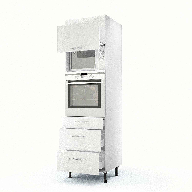 meuble de cuisine colonne blanc 2 portes 3 tiroirs rio h 200 x l 60 x p 56 cm Résultat Supérieur 17 Superbe Colonne Meuble Photos 2017 Ojr7