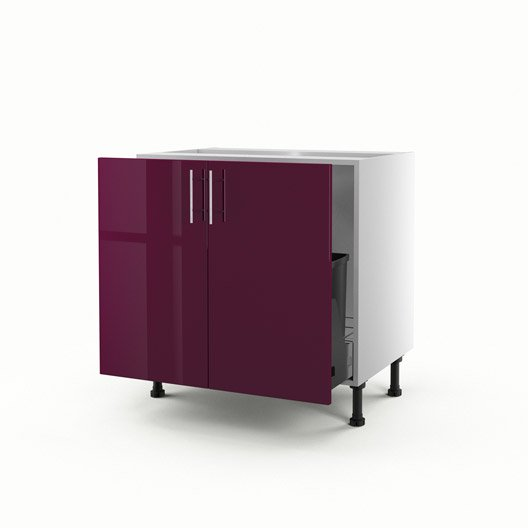 meuble de cuisine sous vier violet 2 portes rio x l. Black Bedroom Furniture Sets. Home Design Ideas