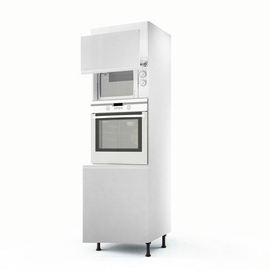 Meuble de cuisine colonne blanc 3 portes graphic x x cm leroy merlin - Colonne de cuisine 60 cm ...