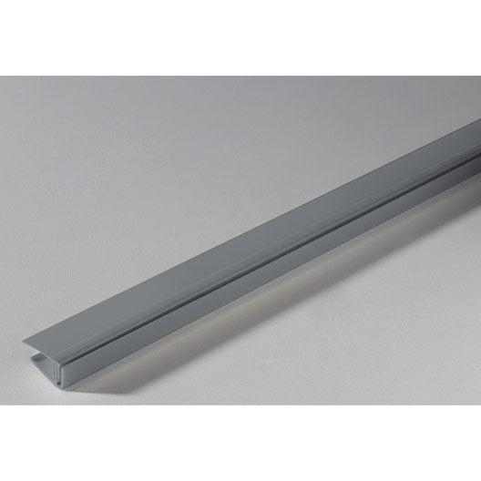 Profil de finition clipsable grosfillex pvc gris clair for Profil de finition pvc