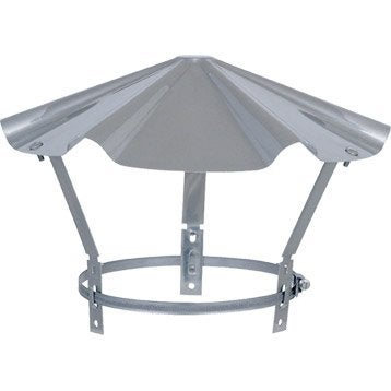 Chapeau pare-pluie simple ISOTIP JONCOUX 130 mm