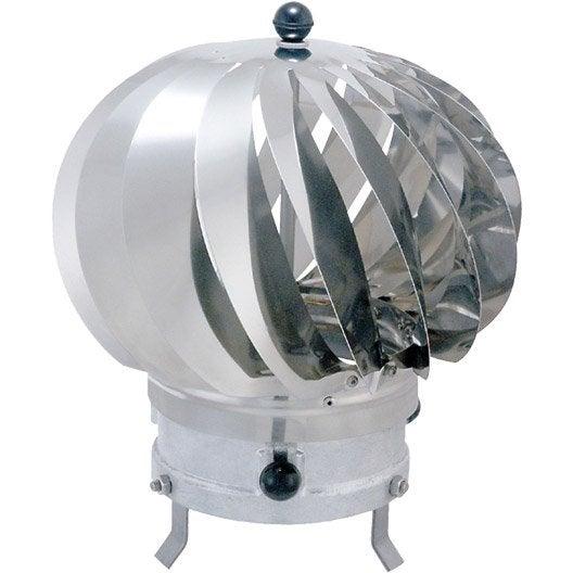 Chapeau aspirateur isotip joncoux 150 mm leroy merlin - Chapeau de cheminee inox ...