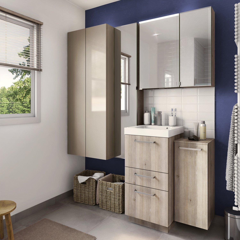 un espace de rangement optimis dans votre salle de bains leroy merlin. Black Bedroom Furniture Sets. Home Design Ideas