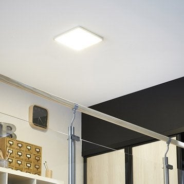 Panneau LED intégrée Gdansk INSPIRE carré 30 x 30 cm, 15 W, intensité variable