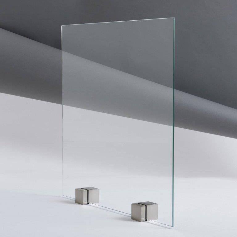 Verre Trempé Transparent Brillant L.126.8 X L.28.4 Cm 4 Mm