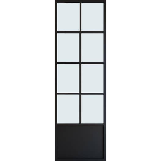 porte coulissante laqu noir monnet xxl x cm hors vitrage leroy merlin. Black Bedroom Furniture Sets. Home Design Ideas