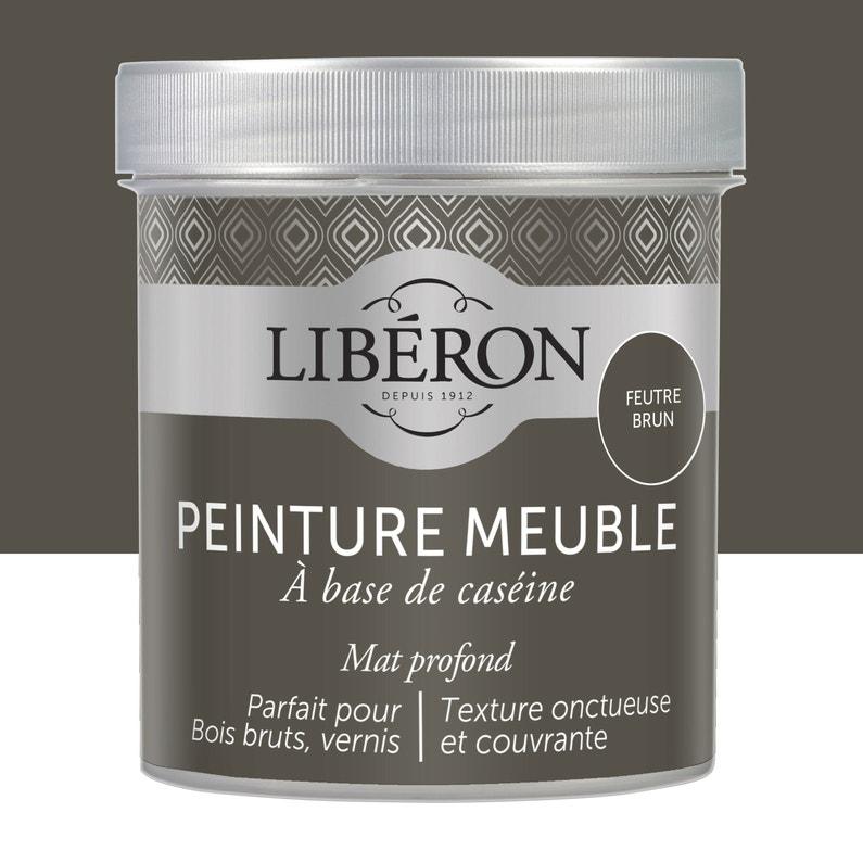 Peinture Pour Meuble Objet Et Porte Mat Liberon Caséine Feutre Brun 0 5l
