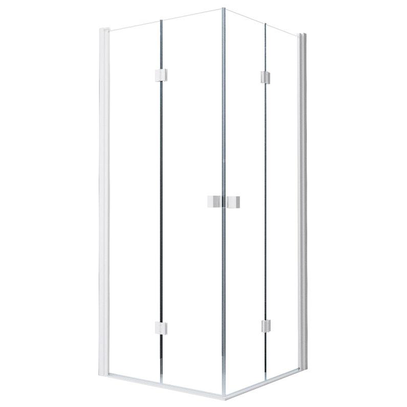 Porte De Douche Pivot Pliante Angle Carré 100 X 100 Cm Transparent Neo