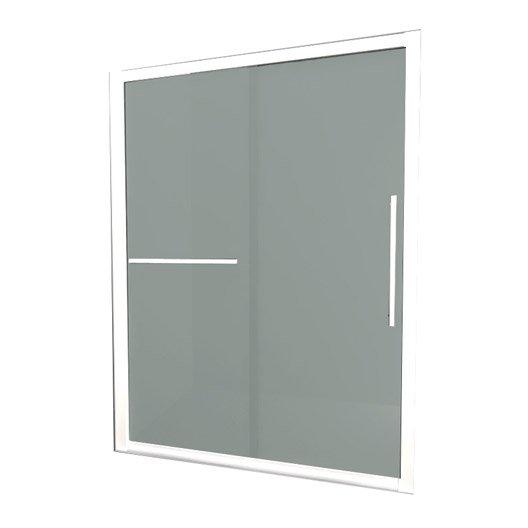 porte de douche coulissante breuer palerme verre de s curit d poli leroy merlin. Black Bedroom Furniture Sets. Home Design Ideas