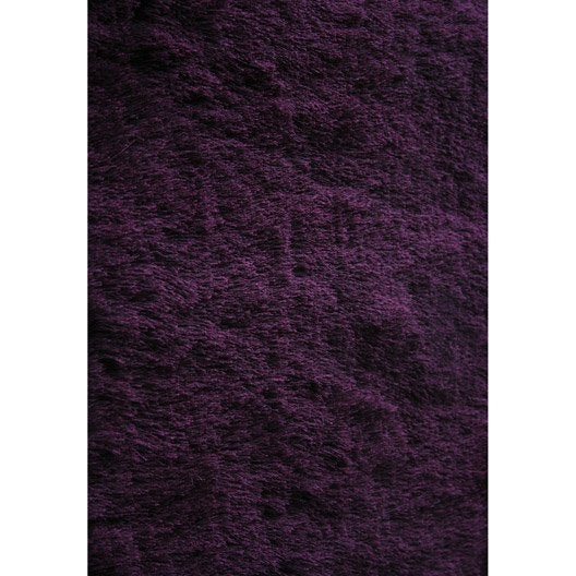 tapis fuchsia shaggy zelia x cm leroy merlin. Black Bedroom Furniture Sets. Home Design Ideas