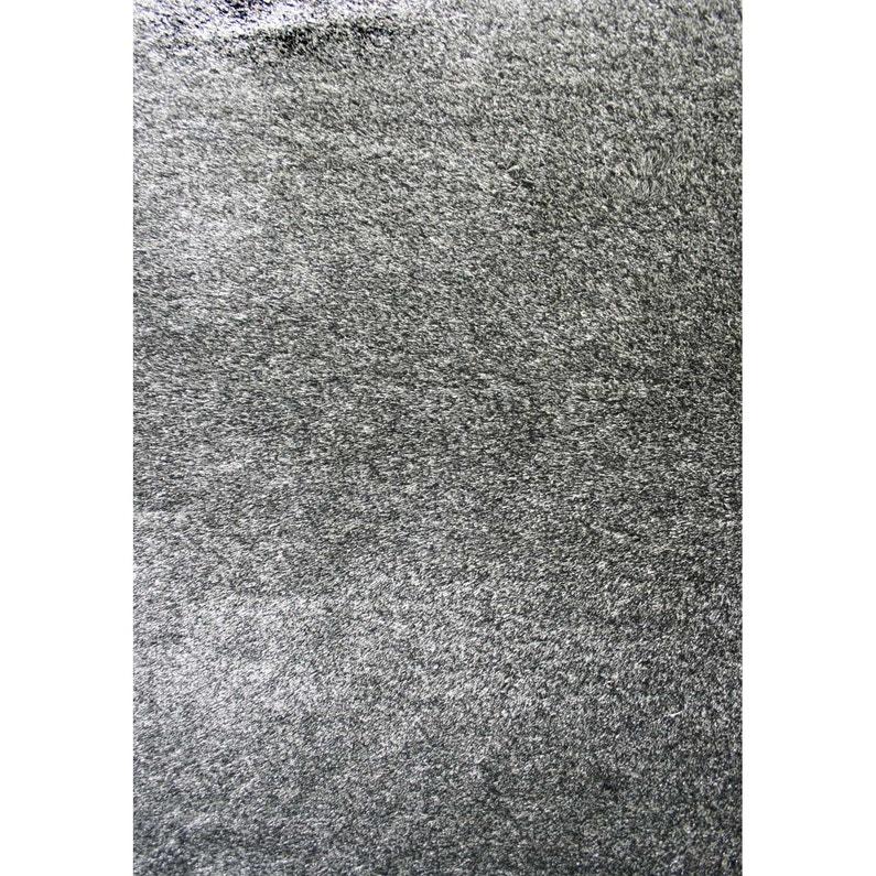 Tapis Gris Shaggy Zelia L 160 X L 230 Cm Leroy Merlin