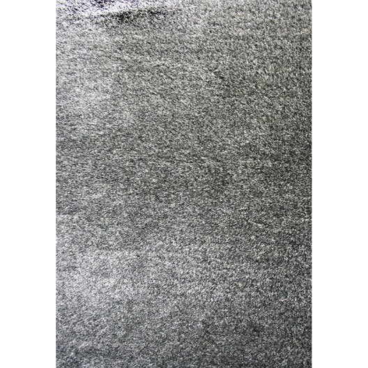 Tapis gris shaggy zelia x cm leroy merlin - Leroy merlin tapis shaggy ...