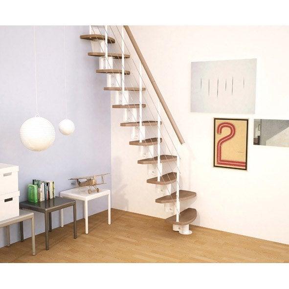 escalier pas japonais zen droit en bois et metal 11 591 591 appart pinterest. Black Bedroom Furniture Sets. Home Design Ideas