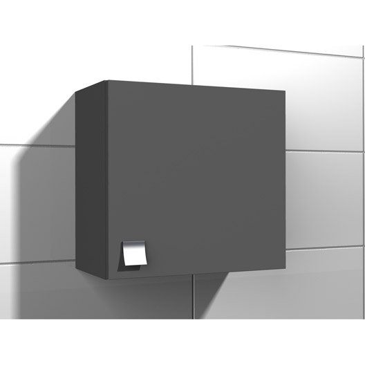 armoire de wc x x cm gris coin d 39 o leroy merlin. Black Bedroom Furniture Sets. Home Design Ideas