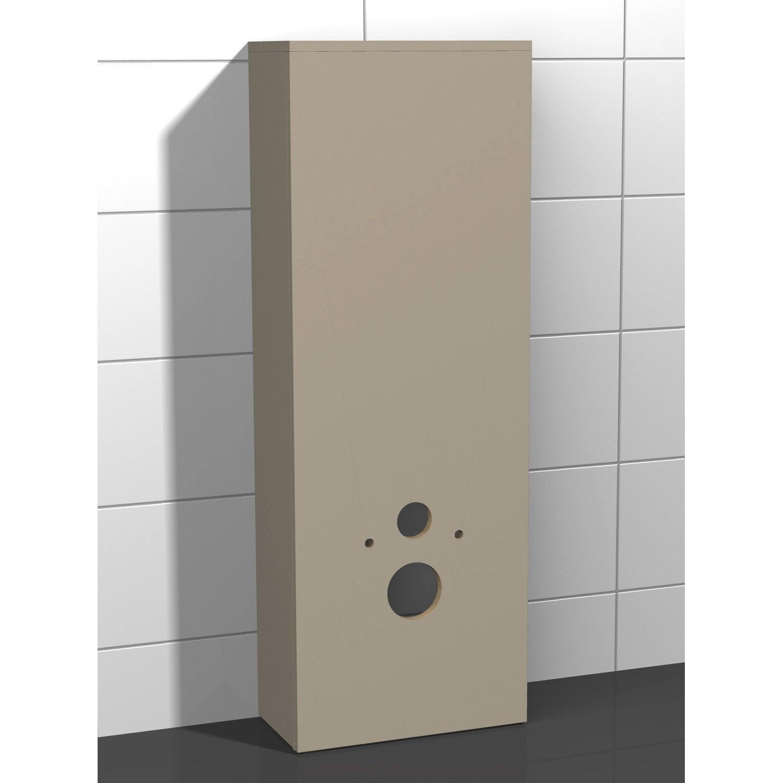 Coffrage Wc Suspendu Avec Rangement coffrage pour wc suspendu l.46.8 x h.130.4 x p.25 cm taupe, coin d'o