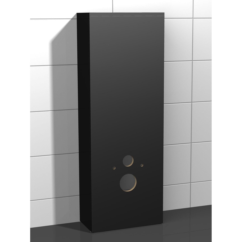 Coffrage Wc Suspendu Avec Rangement coffrage pour wc suspendu l.46.8 x h.130.4 x p.25 cm noir, coin d'o