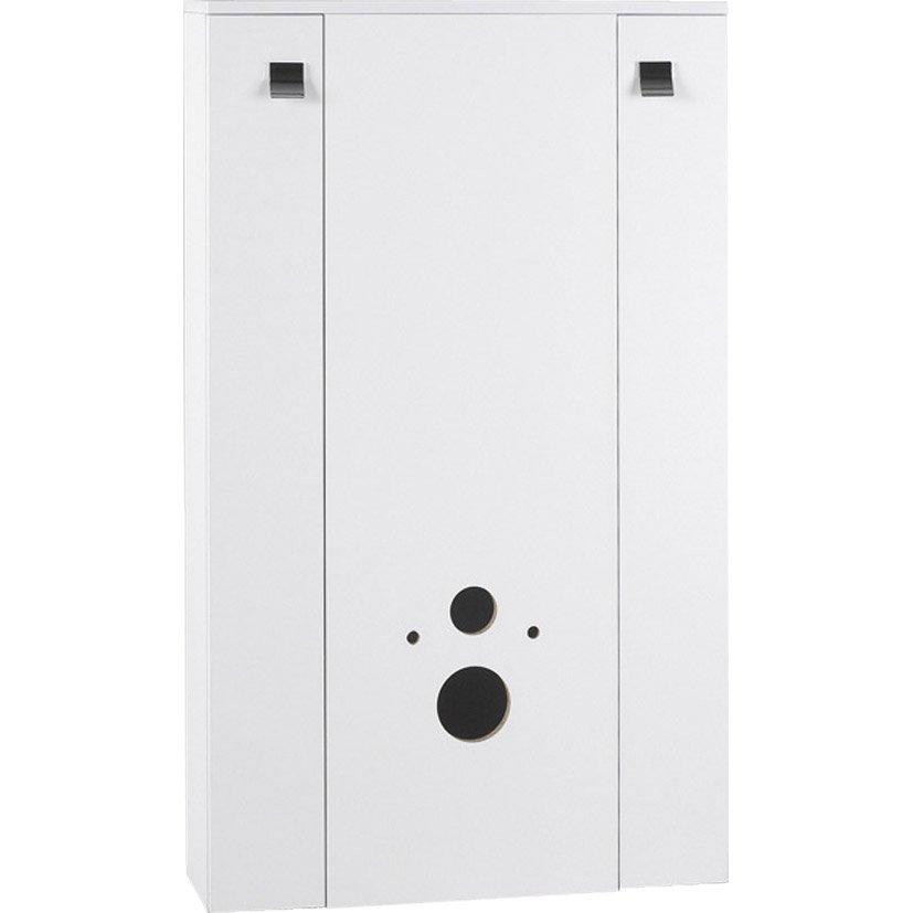 meuble pour wc suspendu l804 x h1304 x p25 cm