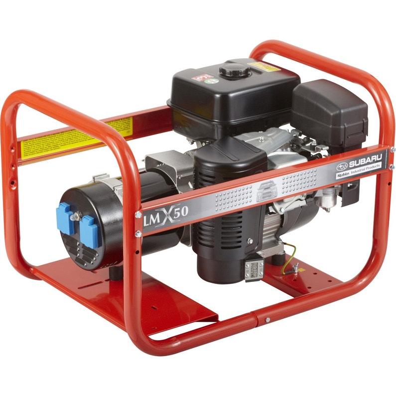 Groupe électrogène essence de chantier WORMS Lmx 50, 3400 W   Leroy ... 38a463c63530