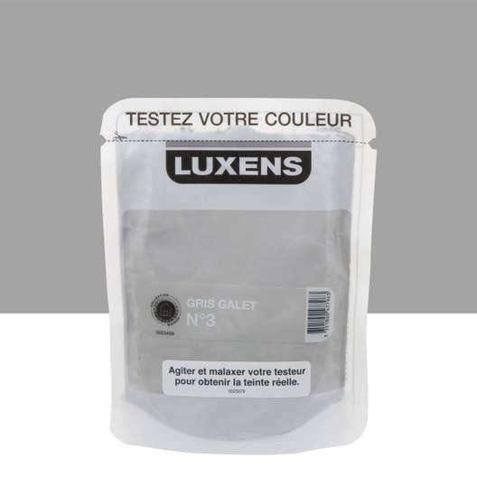 Testeur peinture gris galet 3 satin LUXENS Couleurs intérieures ...