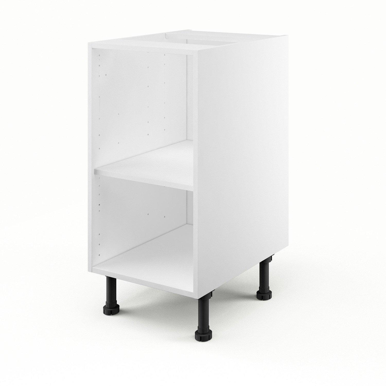 caisson de cuisine bas b40 delinia blanc l40 x h85 x p56 cm leroy merlin