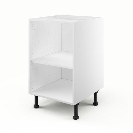 caisson de cuisine bas b50 delinia blanc l50 x h85 x p