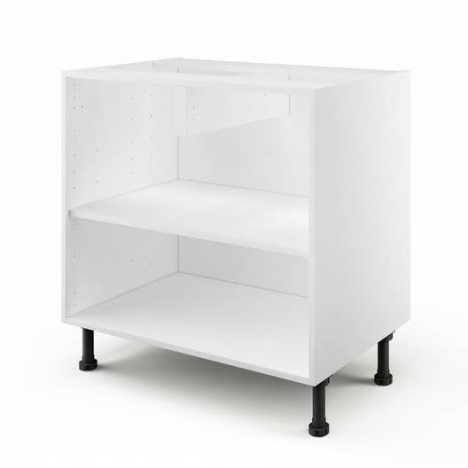 caisson de cuisine bas b80 delinia blanc x x cm leroy merlin. Black Bedroom Furniture Sets. Home Design Ideas
