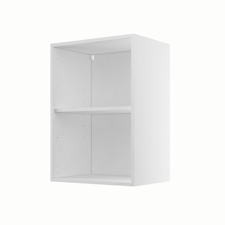 caisson de cuisine haut h5070 delinia blanc l50 x h70 x p35 cm