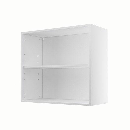caisson de cuisine haut h80 70 delinia blanc l80 x h70 x p35 cm leroy merlin. Black Bedroom Furniture Sets. Home Design Ideas