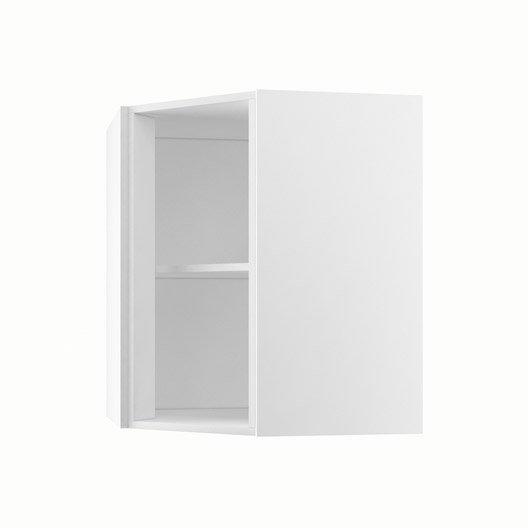 caisson de cuisine haut d 39 angle ah60 70 delinia blanc. Black Bedroom Furniture Sets. Home Design Ideas