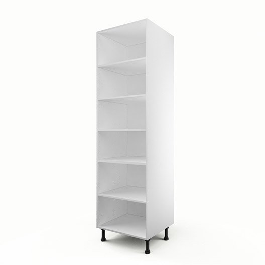 caisson de cuisine colonne c60 200 delinia blanc x x cm leroy merlin. Black Bedroom Furniture Sets. Home Design Ideas