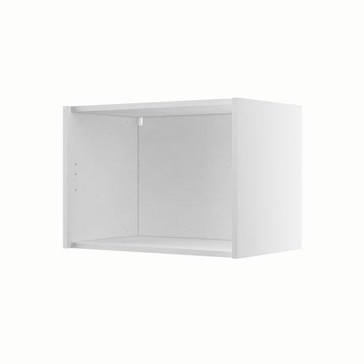 caisson de cuisine haut sur hotte h60 42 delinia blanc l. Black Bedroom Furniture Sets. Home Design Ideas