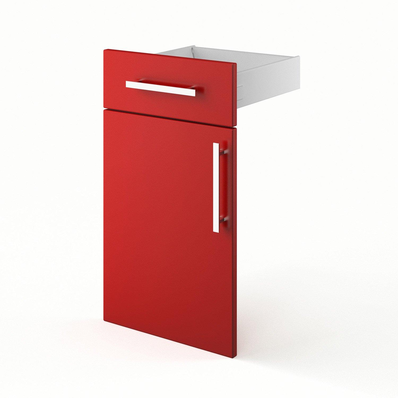 porte et tiroir de cuisine rouge d lice x x cm leroy merlin. Black Bedroom Furniture Sets. Home Design Ideas