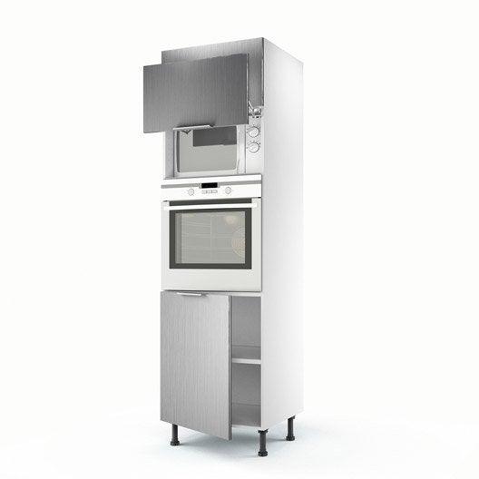 Meuble De Cuisine Colonne D Cor Aluminium 3 Portes Stil H