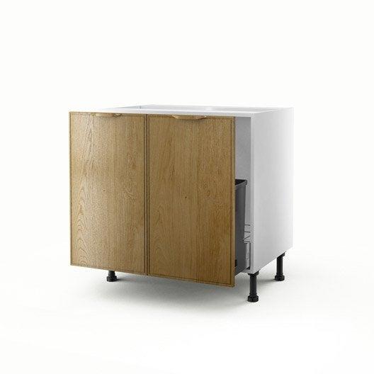 Meuble de cuisine sous vier ch ne 2 portes origine x - Meuble sous evier 70 cm ...