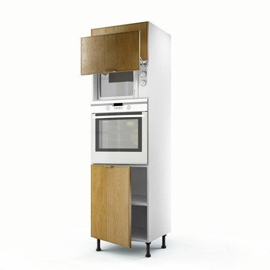 Meuble de cuisine colonne ch ne 3 portes origine x l for Porte cuisine 60 x 30