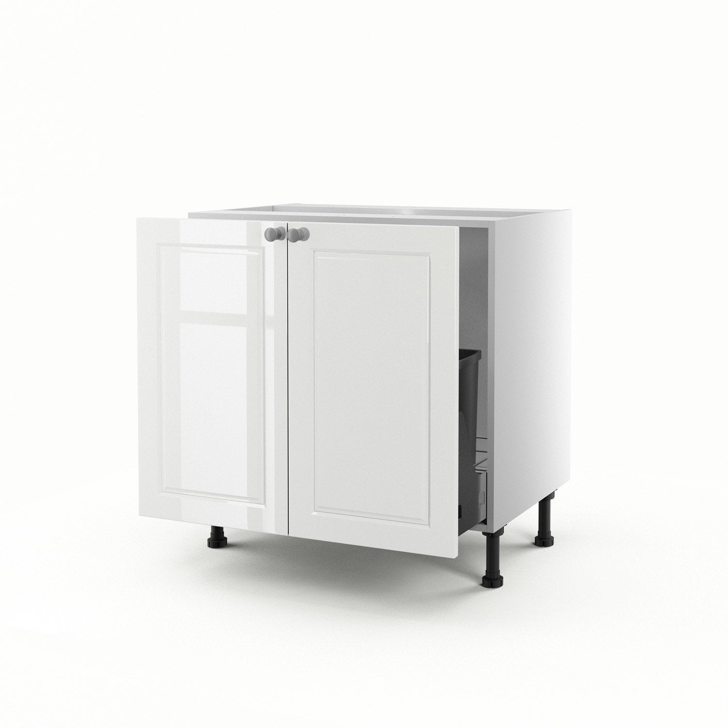 meuble de cuisine sous vier blanc 2 portes chelsea x x cm leroy merlin. Black Bedroom Furniture Sets. Home Design Ideas