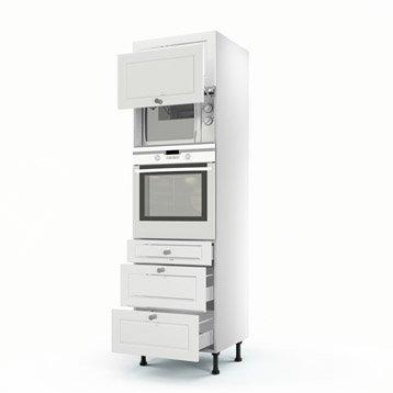 Meuble de cuisine blanc delinia chelsea leroy merlin for Mobiletti leroy merlin