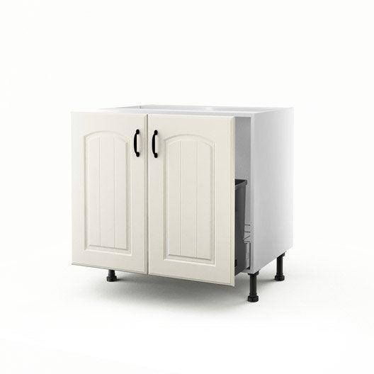 Meuble de cuisine sous vier chanvre 2 portes ol ron for Evier cuisine 40 cm
