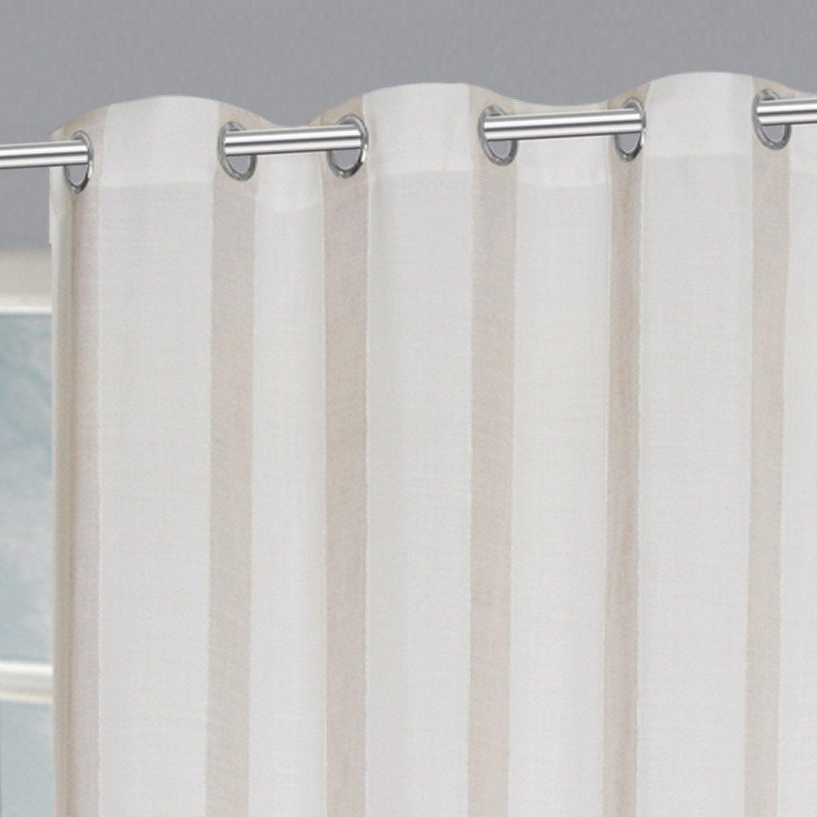 Rideau tamisant, Madina, banc/beige, l.140 x H.260 cm INSPIRE