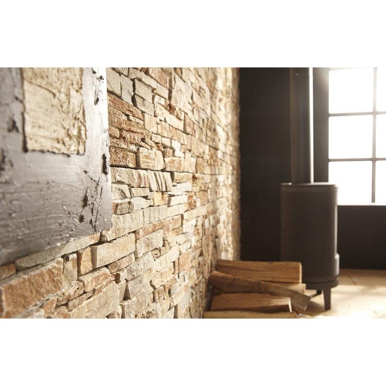 plaquette de parement pierre naturelle orient stonepanel leroy merlin. Black Bedroom Furniture Sets. Home Design Ideas