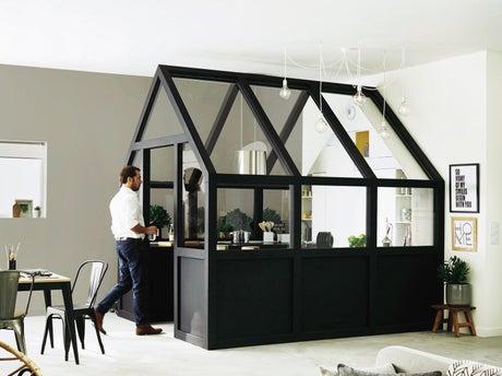 comment cr er une cuisine dans le s jour leroy merlin. Black Bedroom Furniture Sets. Home Design Ideas