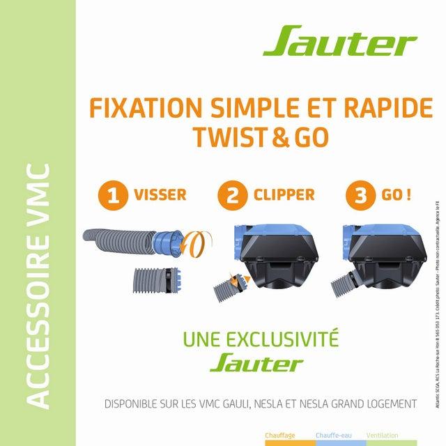Piquage Sanitaire Pvc Sauter Diam8080 Mm Twist Go Sdb Pour Nesla