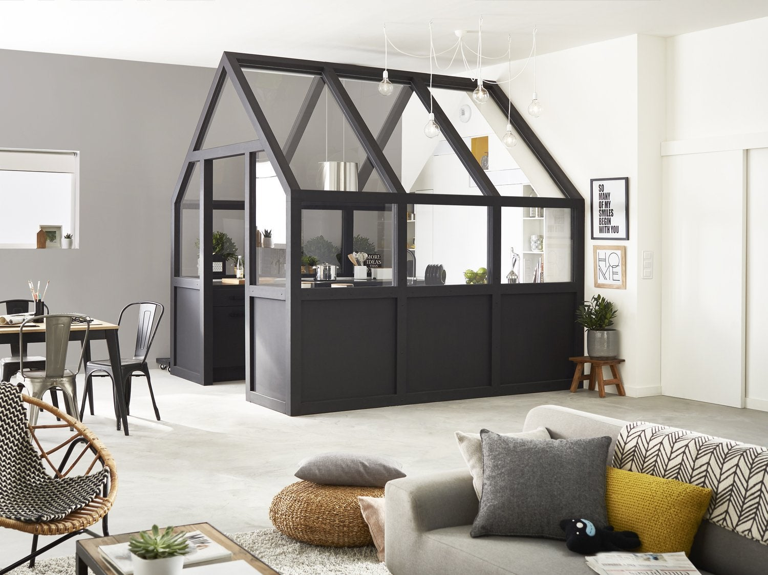 une verri re pour la cuisine leroy merlin. Black Bedroom Furniture Sets. Home Design Ideas