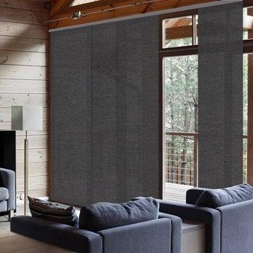 Panneau japonais, Chevrons gris, H.250 x l.50 cm