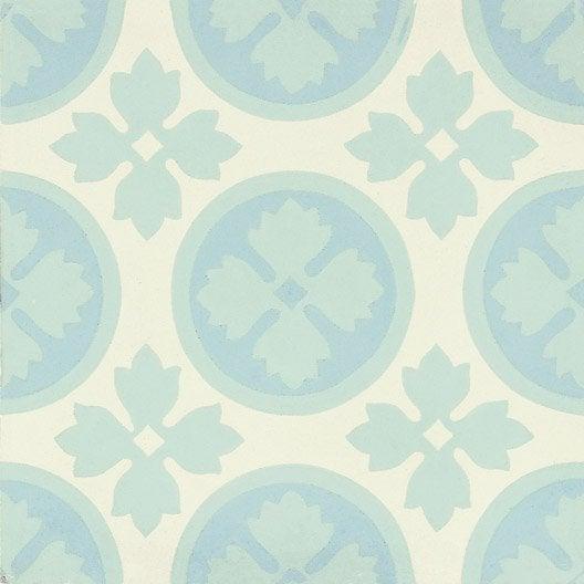 carreau de ciment belle poque d cor alice bleu vert et blanc x cm leroy merlin. Black Bedroom Furniture Sets. Home Design Ideas