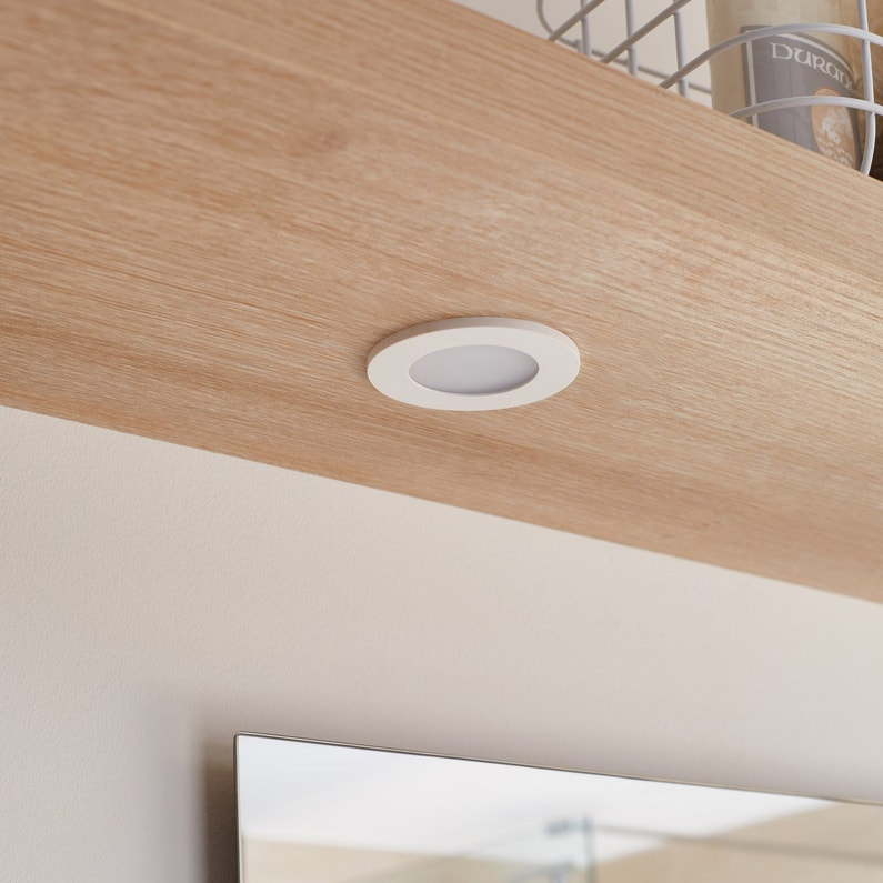 Spot A Encastrer Salle De Bains Bazao Fixe Led Inspire Led Integree Blanc Leroy Merlin