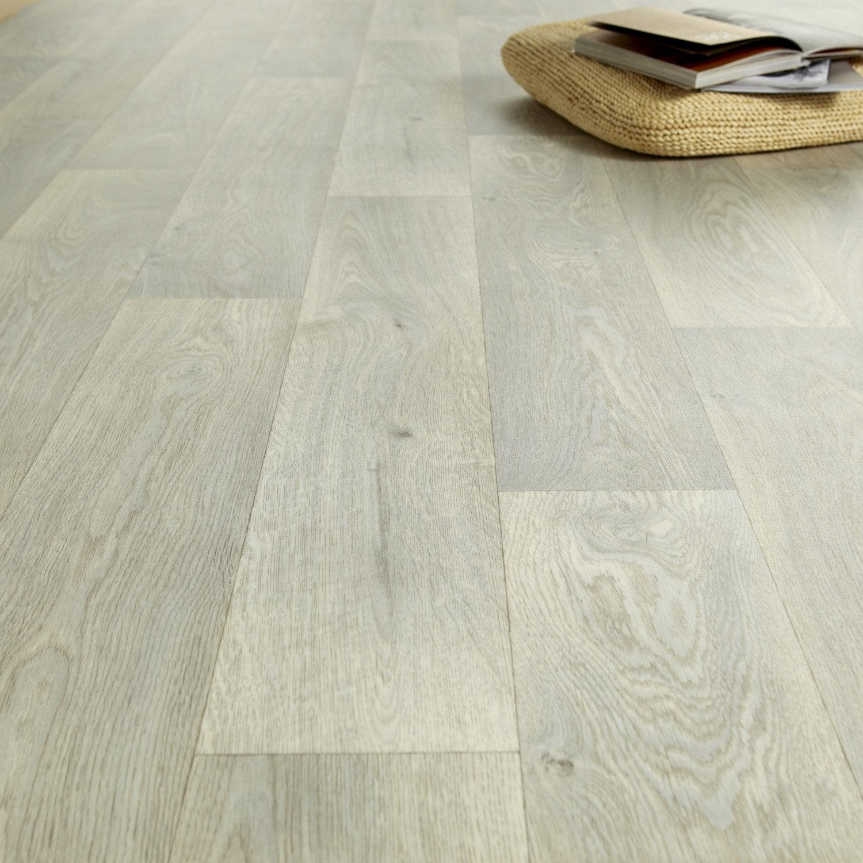 Sol PVC bois blanchi, ARTENS Reflex l.3 m