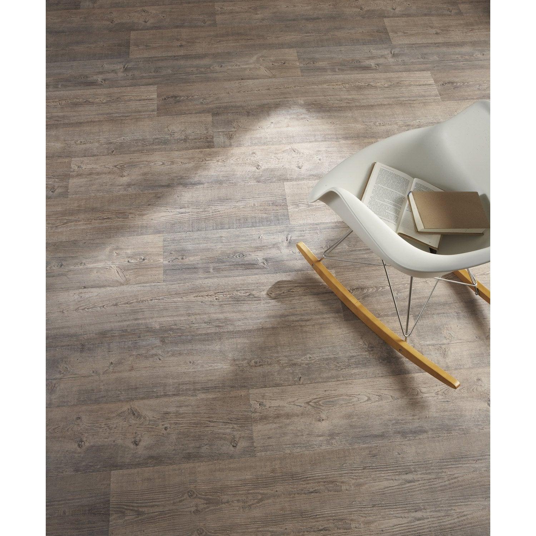 Sol PVC chêne grisé, ARTENS Reflex l.3 m