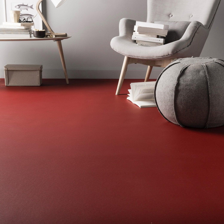 sol pvc rouge rouge n 4 rouge rouge 4 l 4 m leroy merlin. Black Bedroom Furniture Sets. Home Design Ideas