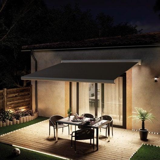 store banne motoris rio2 coffre int gral 4 x 3 m t130 brun taupe leroy merlin. Black Bedroom Furniture Sets. Home Design Ideas